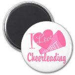 I Love Cheerleading 2 Inch Round Magnet