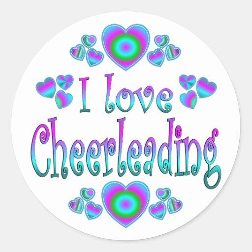 I Love Cheerleading Classic Round Sticker