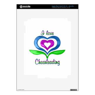 I Love Cheerleading Hearts Skins For iPad 3