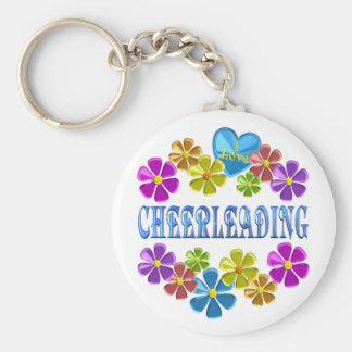 I Love Cheerleading Keychain