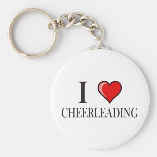 I love cheerleading keychains
