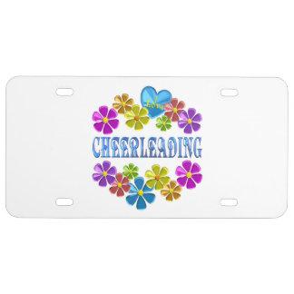 I Love Cheerleading License Plate