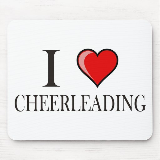 I love cheerleading mouse pads