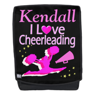 I LOVE CHEERLEADING PERSONALIZED BACKPACK