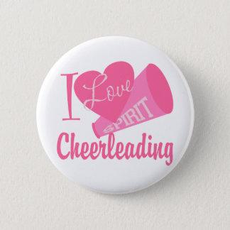 I Love Cheerleading Pinback Button