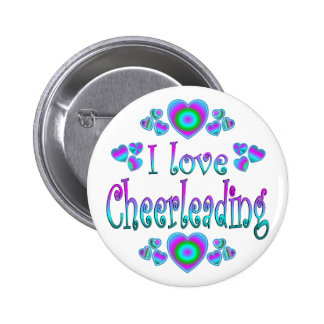 I Love Cheerleading Pins
