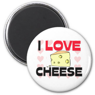 I Love Cheese 2 Inch Round Magnet