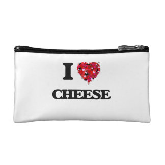 I love Cheese Cosmetic Bags