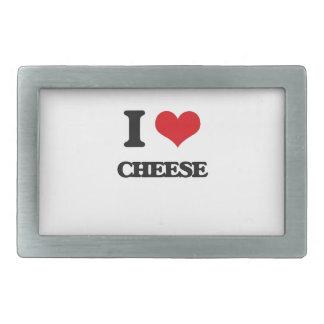 I Love Cheese Rectangular Belt Buckle