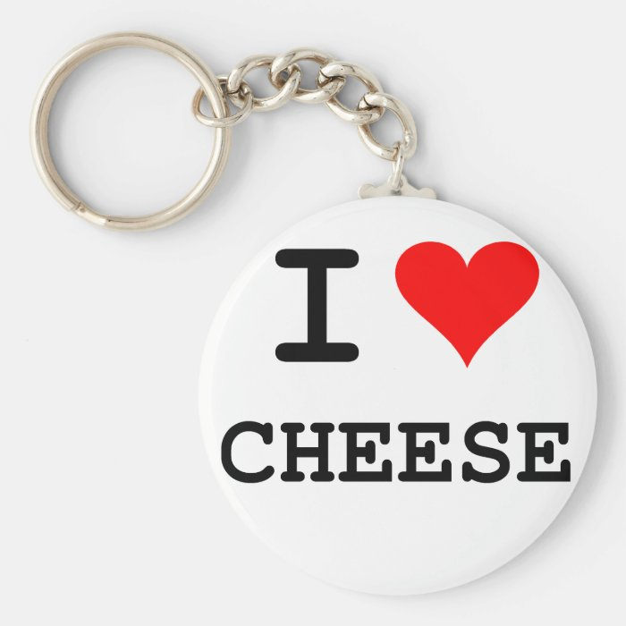 I love cheese (black lettering) keychain