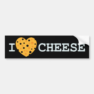 I Love Cheese Bumper Sticker