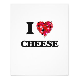 """I Love Cheese food design 4.5"""" X 5.6"""" Flyer"""