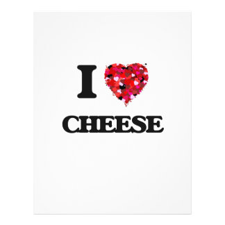 """I Love Cheese food design 8.5"""" X 11"""" Flyer"""
