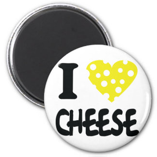 I love cheese icon 2 inch round magnet