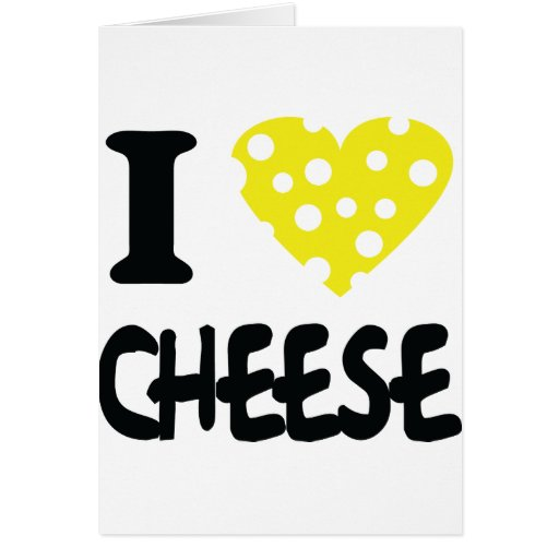I love cheese icon card