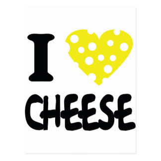 I love cheese icon postcards