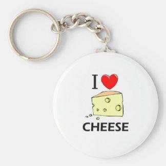 I Love Cheese Key Chain