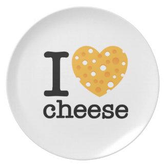 I Love Cheese Melamine Plate