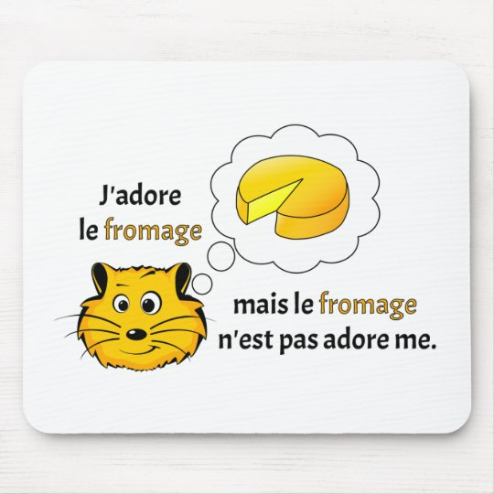 I love cheese mouse pad