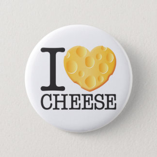 I Love Cheese Pinback Button