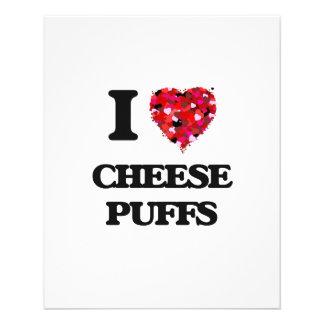 "I Love Cheese Puffs food design 4.5"" X 5.6"" Flyer"
