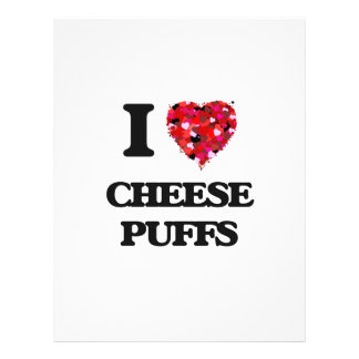 "I Love Cheese Puffs food design 8.5"" X 11"" Flyer"