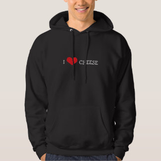 """""""I Love Cheese"""" Pull-Over Hooded Pullover"""