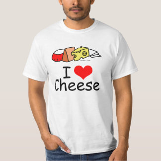 I Love Cheese Tee Shirt