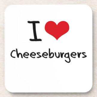 I love Cheeseburgers Beverage Coaster