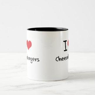 I love Cheeseburgers Two-Tone Coffee Mug