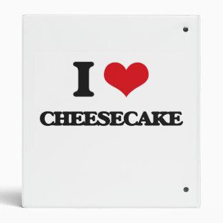 I love Cheesecake 3 Ring Binders