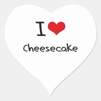 I love Cheesecake Heart Sticker