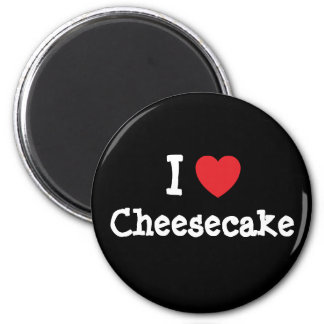 I love Cheesecake heart T-Shirt 2 Inch Round Magnet