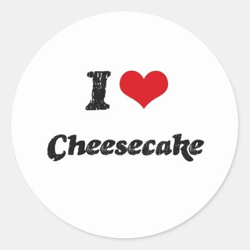 I love Cheesecake Round Stickers