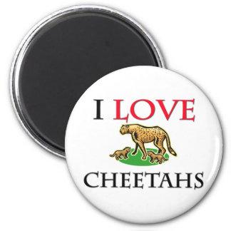 I Love Cheetahs 2 Inch Round Magnet