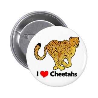 I Love Cheetahs Button