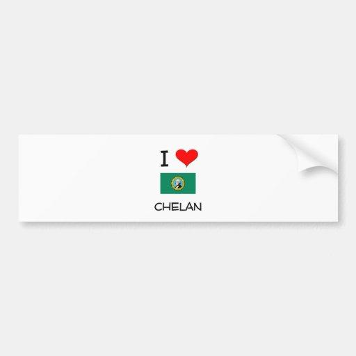 I Love Chelan Washington Car Bumper Sticker
