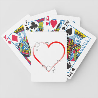I love Chem Bicycle Playing Cards