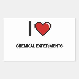 I Love Chemical Experiments Digital Retro Design Rectangular Sticker