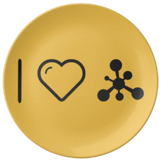 I Love Chemical Reactions Porcelain Plate