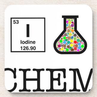 I Love Chemistry Beverage Coaster