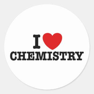 I Love Chemistry Classic Round Sticker