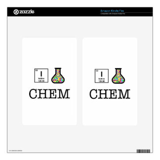 I Love Chemistry Kindle Fire Decal