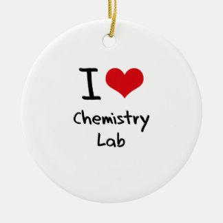 I love Chemistry Lab Ornaments