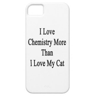 I Love Chemistry More Than I Love My Cat iPhone SE/5/5s Case