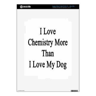 I Love Chemistry More Than I Love My Dog iPad 3 Skins