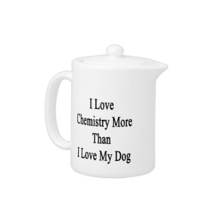 I Love Chemistry More Than I Love My Dog Teapot