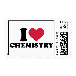 I love chemistry postage stamps