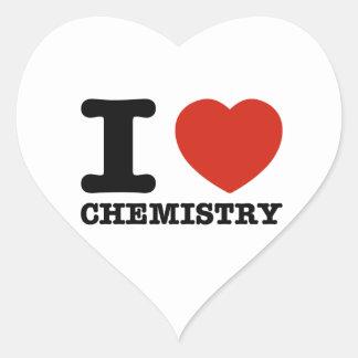 I love chemistry heart sticker
