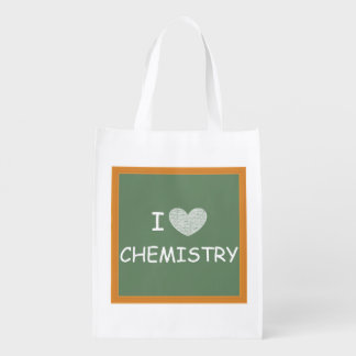 I Love Chemistry Grocery Bag